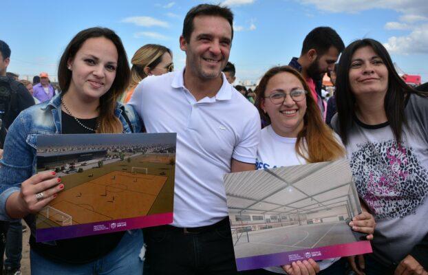Presentaron a los vecinos la obra del centro integrador en el barrio Serranías Puntanas